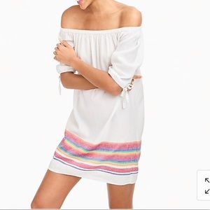 Jcrew Beach Dress with Rainbow Stripes